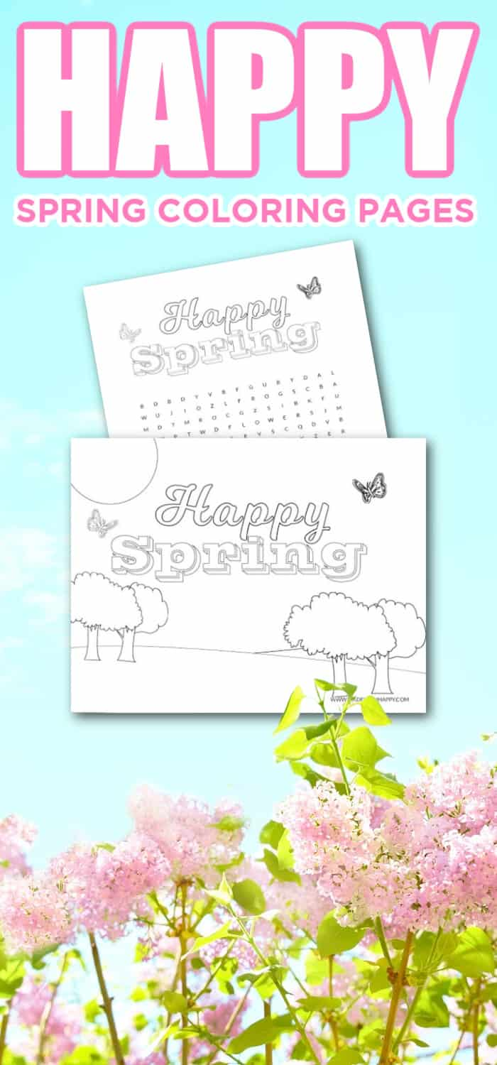 free printable spring coloring sheets