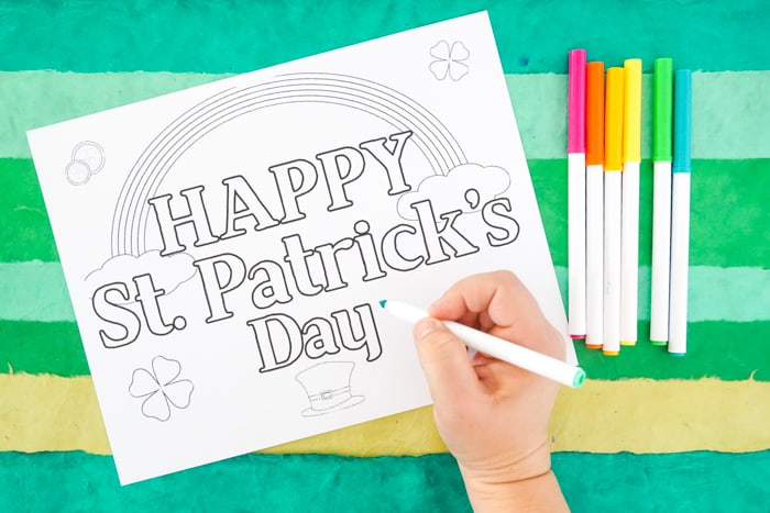 Printable Coloring Pages for Kids St. Patrick's Day