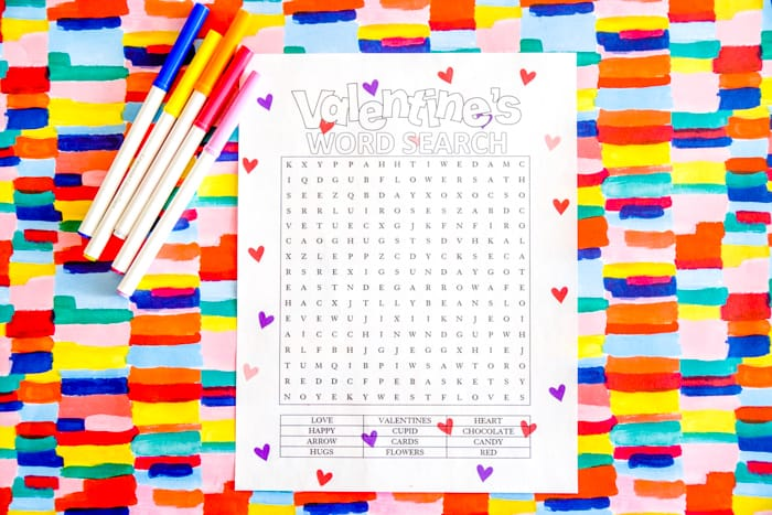 Free Coloring Pages for kids at Valentines Day