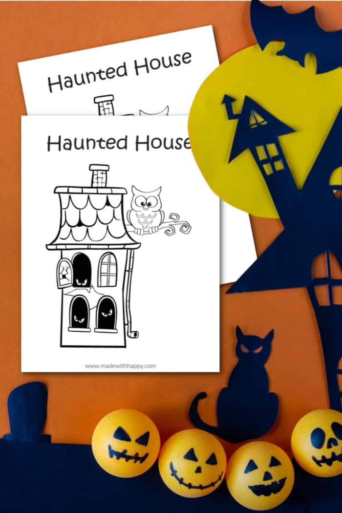 haunted house halloween coloring pages