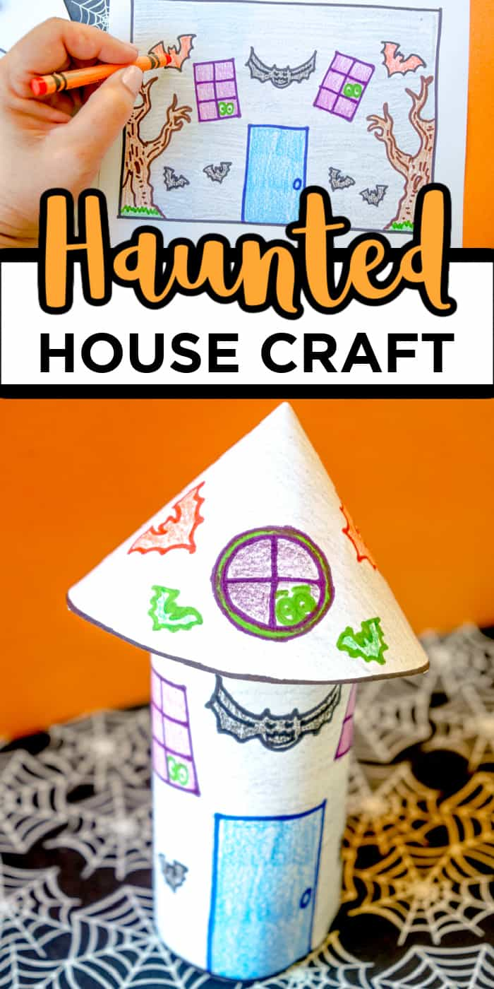 Haunted House Bat Craft