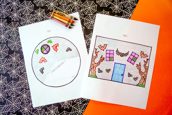 coloring in the printable house