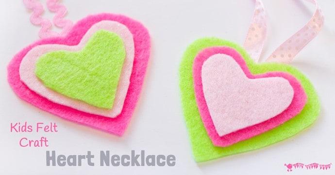 Heart Necklace Kids Felt Craft