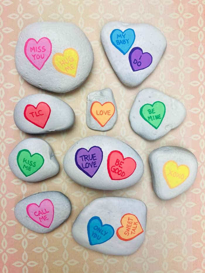 Heart Painted Rock