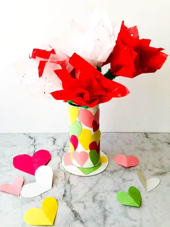 Heart Vase Craft