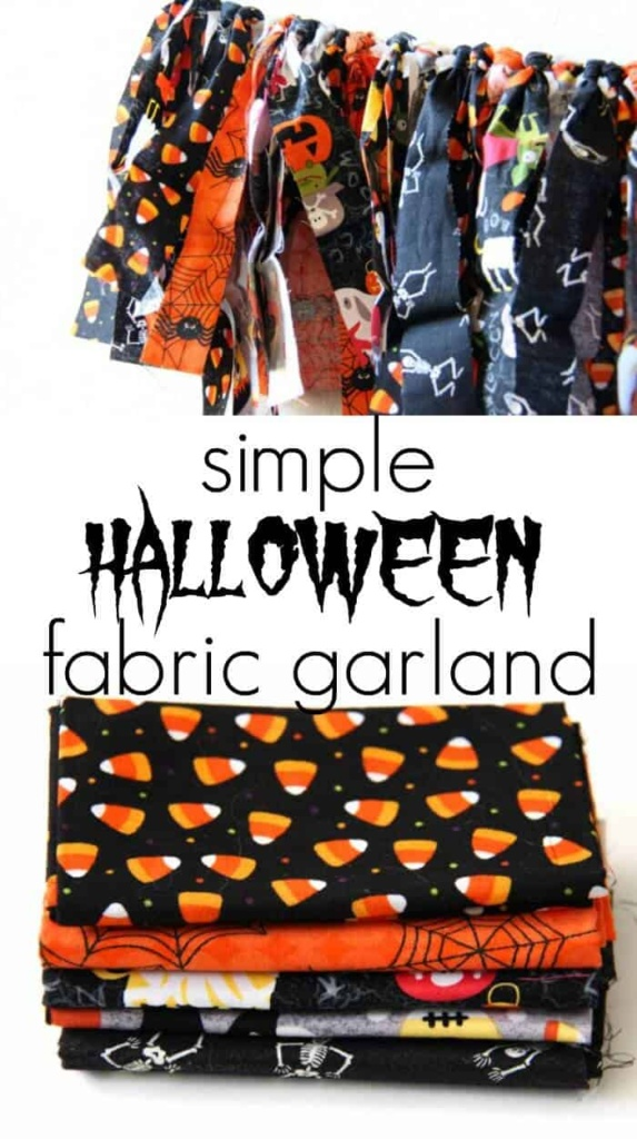 Simple Halloween Fabric Garland