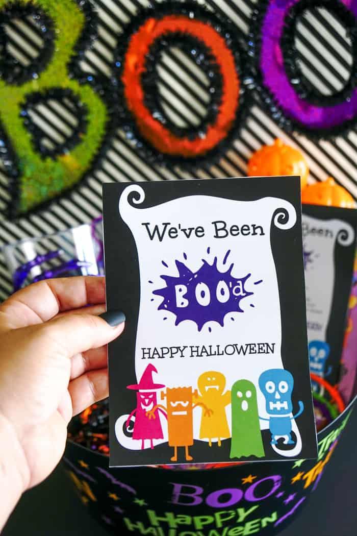 Printable Halloween Card - We've been Boo'd