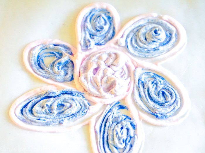 Shaving cream puffy paint. We're excited to be sharing how to make puffy paint using just two supplies. Kids crafts and kids art can be fun and and creative.