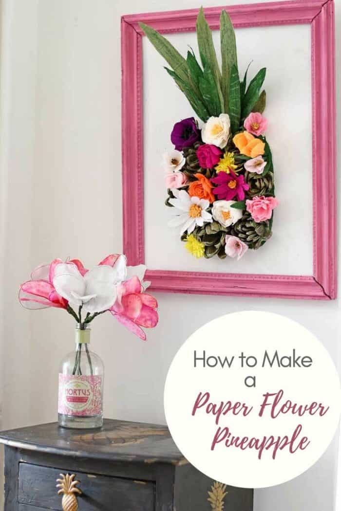 How to make a paper flower wall decoration