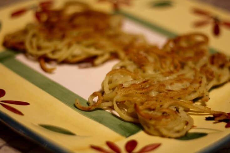 Spiralized Golden Potato Latkes