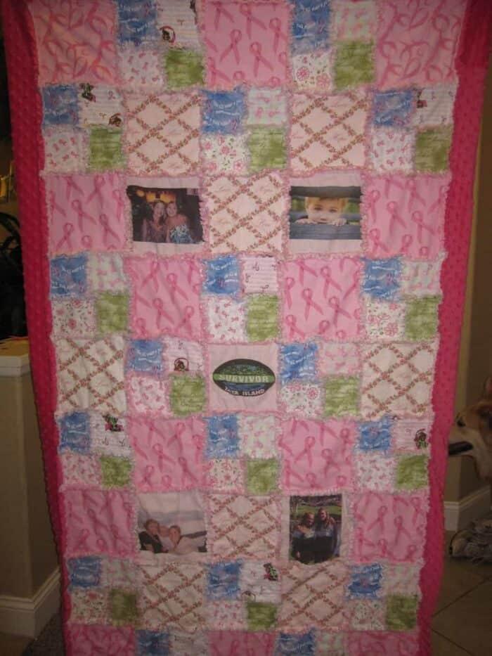 Breast Cancer Awareness Month.  DIY Cancer Survivor Blanket