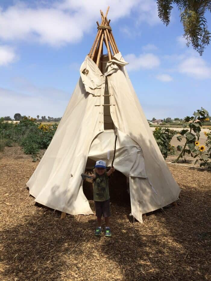 Dylan loved the tipi
