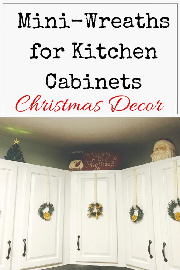 Kitchen Cabinet Wreaths
