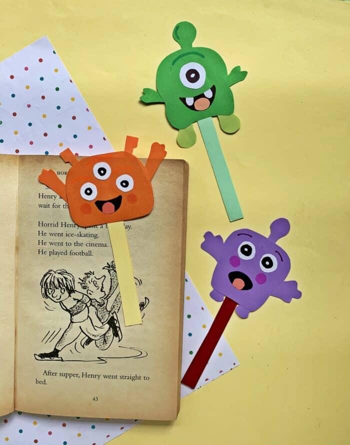 kids halloween bookmark
