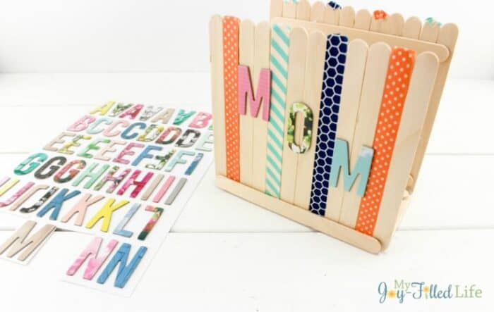 Craft Stick Napkin Holders