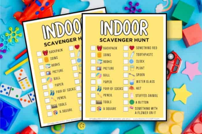 indoor scavenger hunt ideas for kids