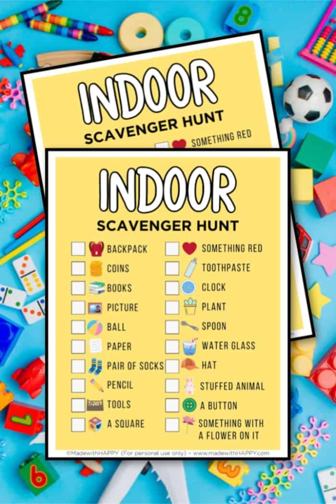 preschool indoor scavenger hunt for kids