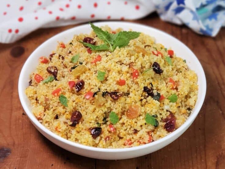 Instant Pot Cranberry Spice Couscous [Recipe + Video]