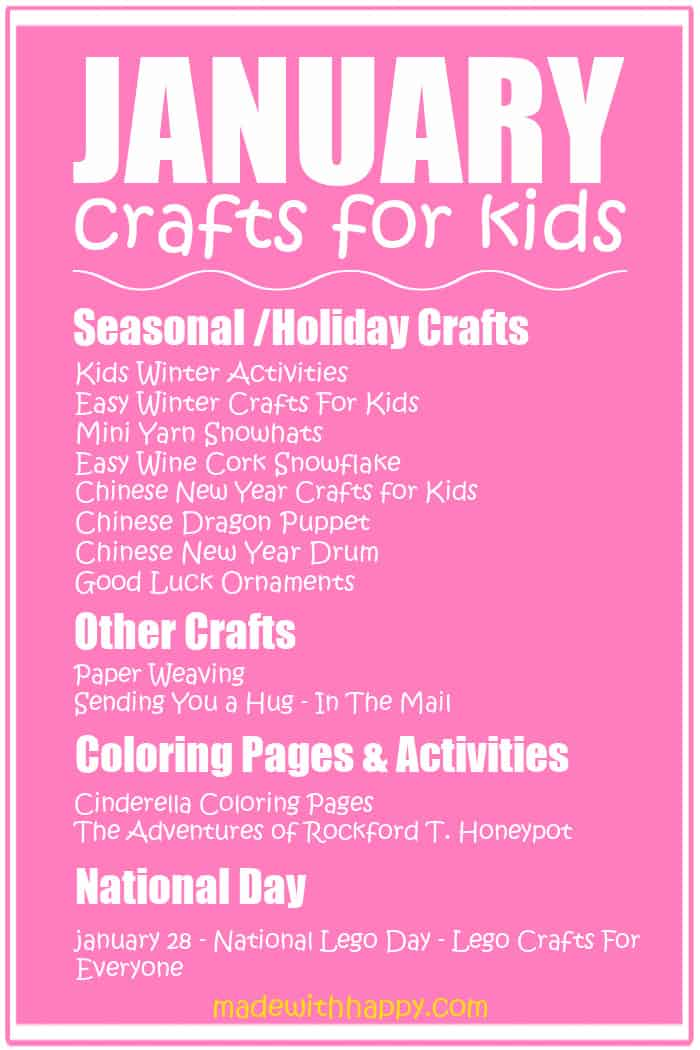 Kids Crafts for January