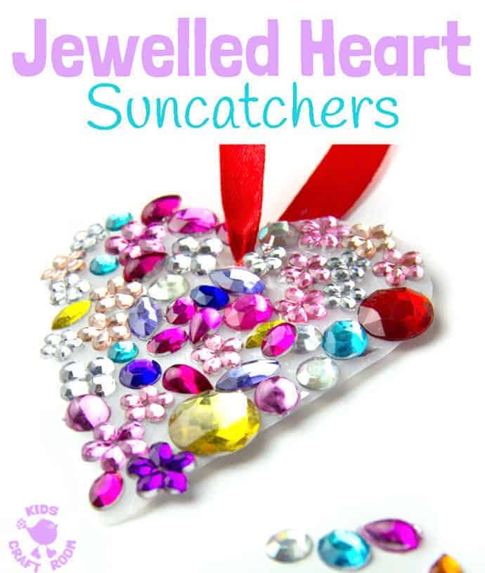 Jewelled Heart Suncatchers