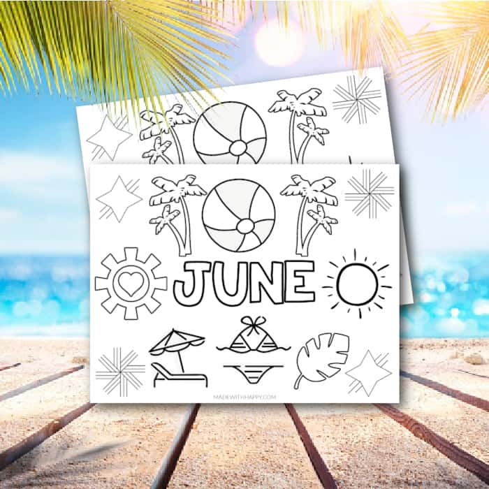 June Coloring Pages SQ