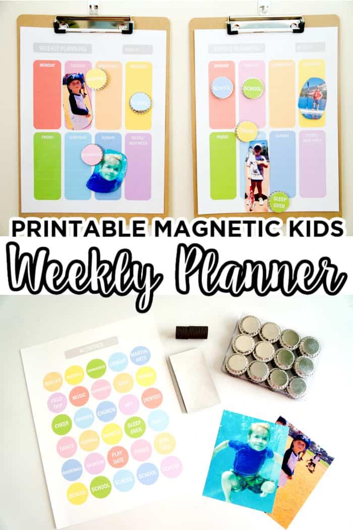 kids weekly planner