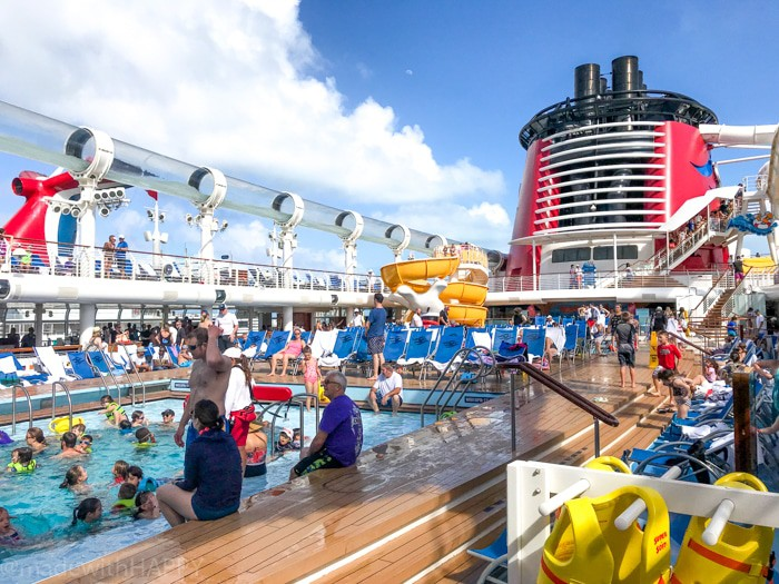 Pool Deck aboard the Disney Dream. What is really like on a Disney WDW Cruise. Answering questions about Disney Cruise and the Disney Dream. What to expect on a Disney Cruise. The Disney Cruise as a family of four!