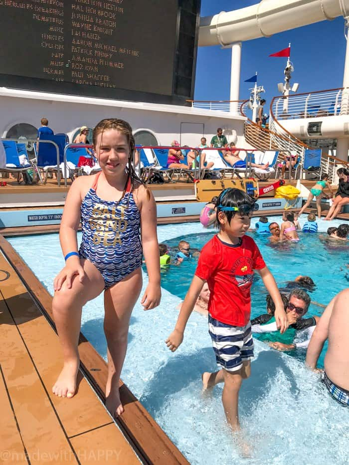 Kids Pool aboard the Disney Dream. What is really like on a Disney WDW Cruise. Answering questions about Disney Cruise and the Disney Dream. What to expect on a Disney Cruise. The Disney Cruise as a family of four!