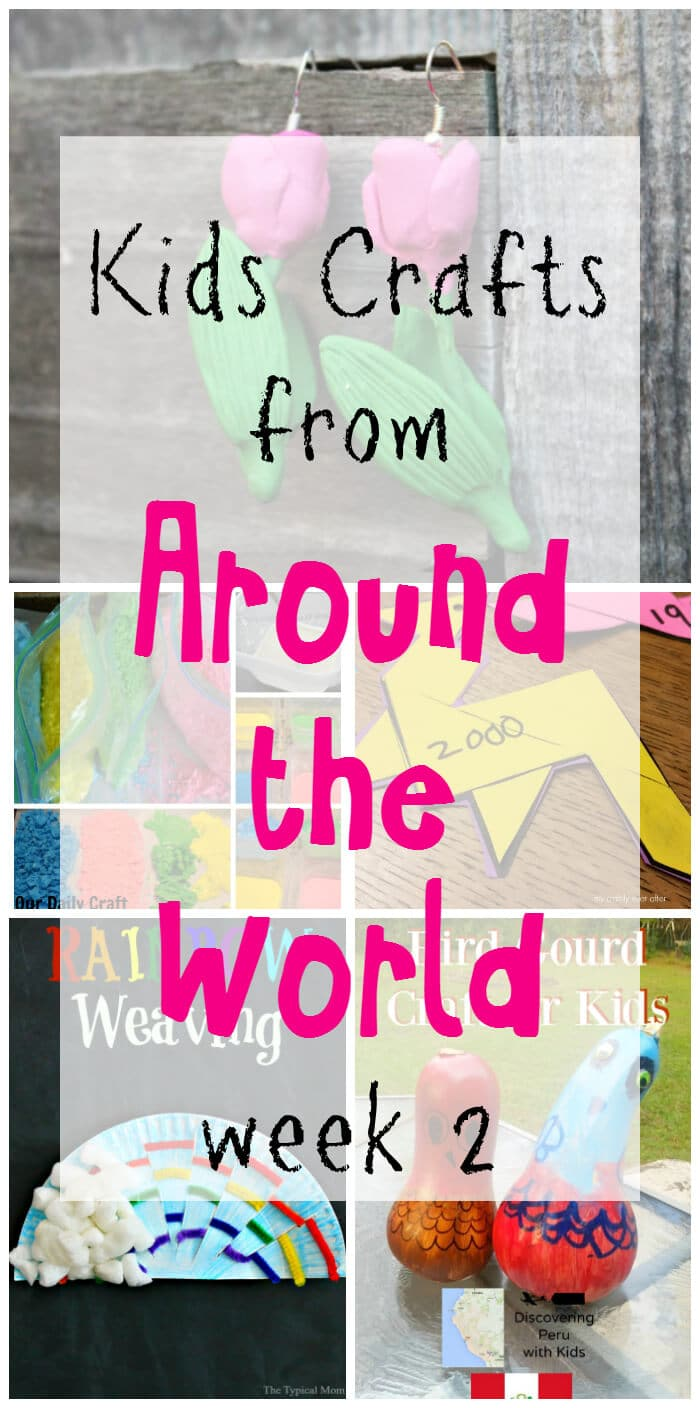 Kids Crafts from Around the World | Kids Craft Series with crafts from different countries around the world. | Ireland Kids Crafts | The Netherlands Kids Crafts | Chinese Kids Crafts | Peruvian Kids Crafts | India Holi Kids Crafts | www.madewithHAPPY.com