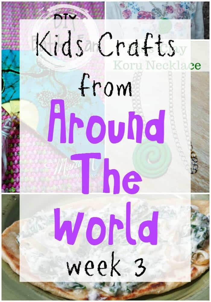 Kids Crafts from Around the World | Kids Craft Series with crafts from different countries around the world. | Indonesia Kids Crafts | New Zealand Kids Crafts | Afghanistan Kids Crafts | Peruvian Kids Crafts | India Holi Kids Crafts | www.madewithHAPPY.com