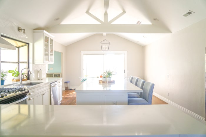 Kitchen renovation. Classic White Kitchen, Modern Farmhouse Style Kitchen. All White Kitchen.