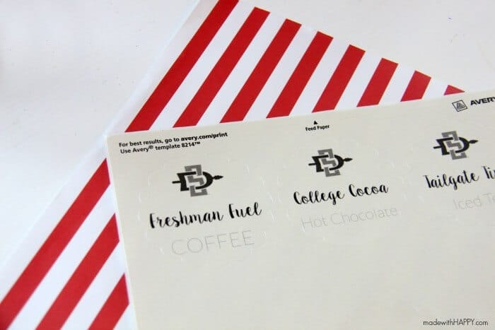 Coffee Care Package | How to build a coffee bar | College Dorm Setup | College Care Package Gift Ideas | www.madewithHAPPY.com