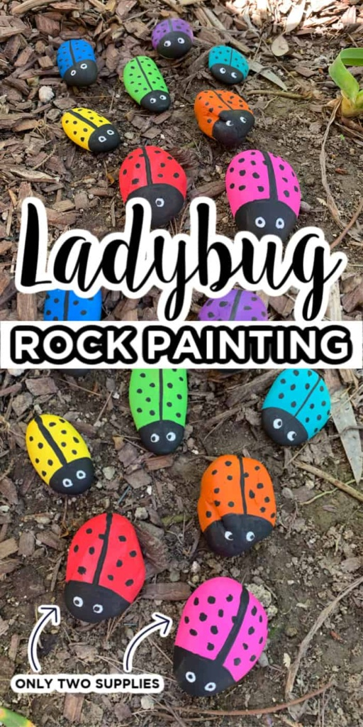 Kids Ladybug Rock Painting Craft