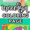 Free Printable Leprechaun Coloring Page