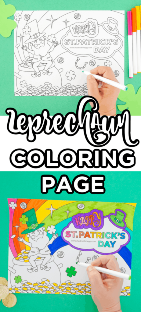 Free Printable Leprechaun Coloring Page