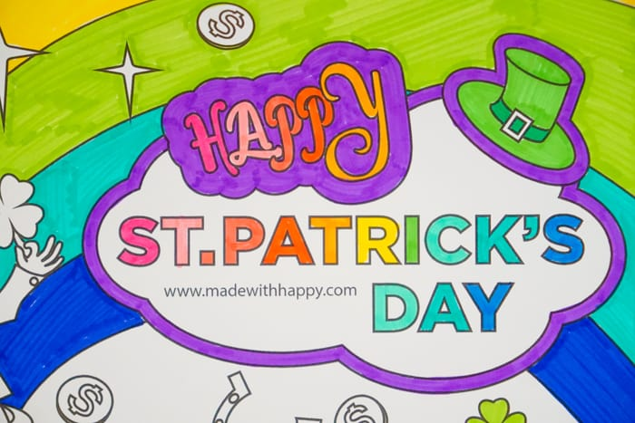 Happy St. Patrick's Day Coloring Page