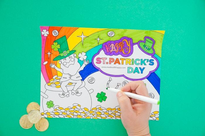 Printable Leprechaun Coloring Page