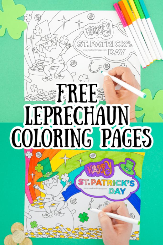 Free Leprechaun Coloring Page