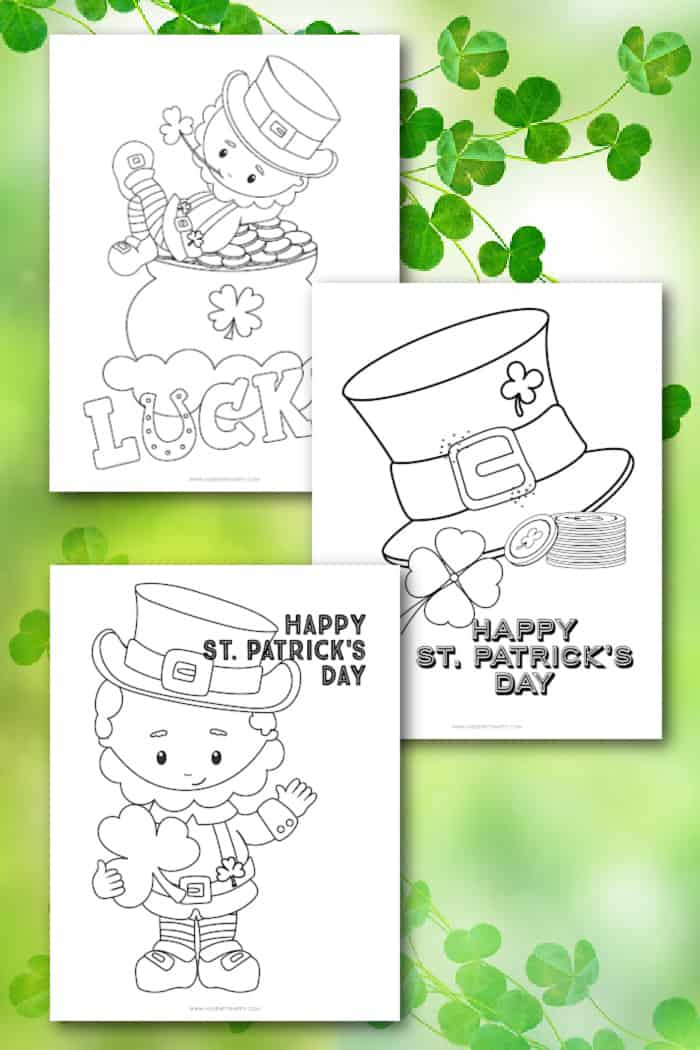 shamrock coloring page