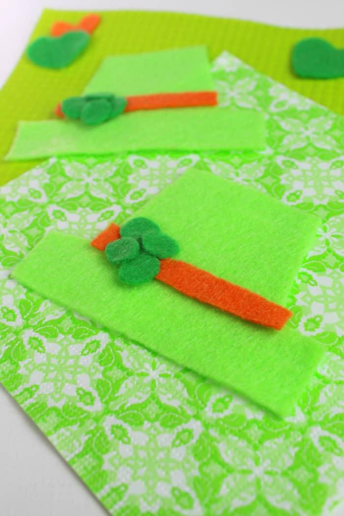 Putting together leprechaun hat