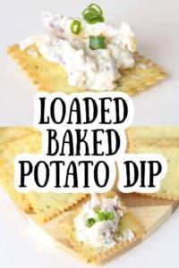 Loaded Baked Potato Dip Recipe for Superbowl