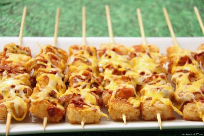 Skip the tater tot casserole and make this tater tot appetizer instead!