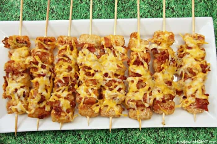 Tater Tot Skewers a such a great party food.