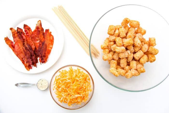 This delicious Tater Tot Appetizer blends your favorite flavors onto an easy to carry stick!