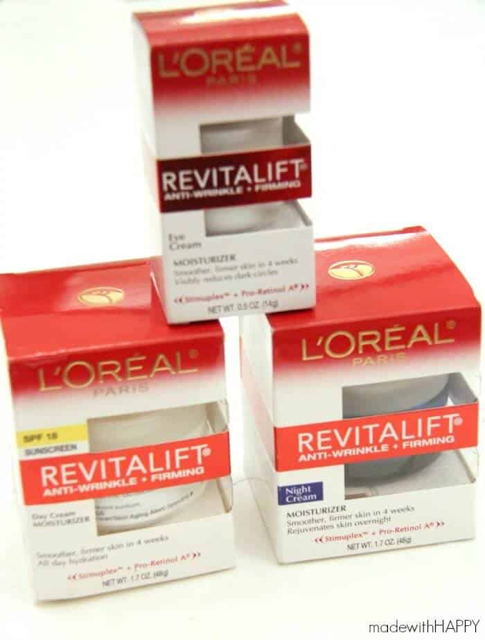 We were asked to try out the L'Oréal Revitalift™ skin care treatment
