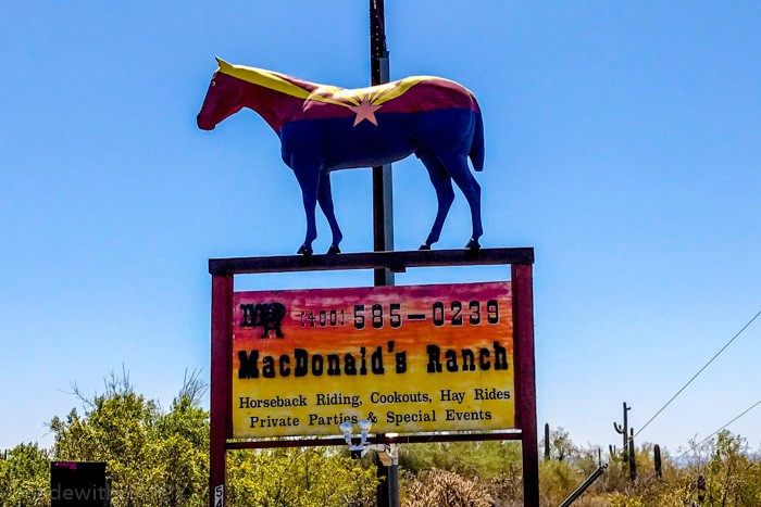 MacDonald's Ranch Phoenix Arizona. Fun things to do in Phoenix Arizona. Phoenix Arizona Attractions. Spring Break Road Trip from San Diego to Phoenix. Fun Stops from California to Arizona.