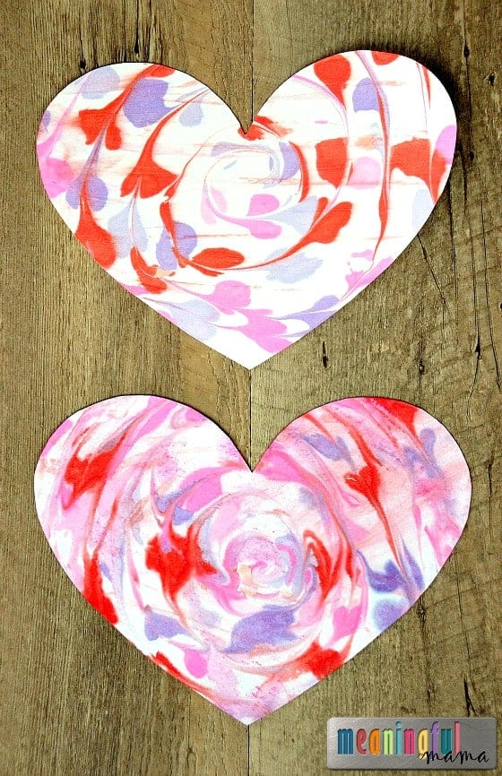 Marbled Valentines Heart