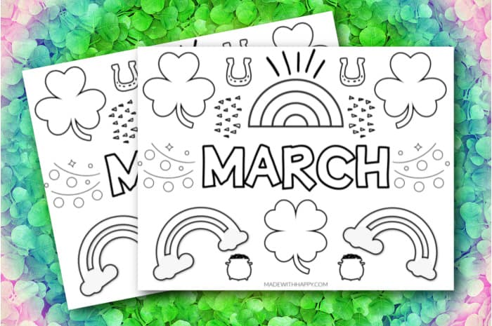 month of march coloring pages
