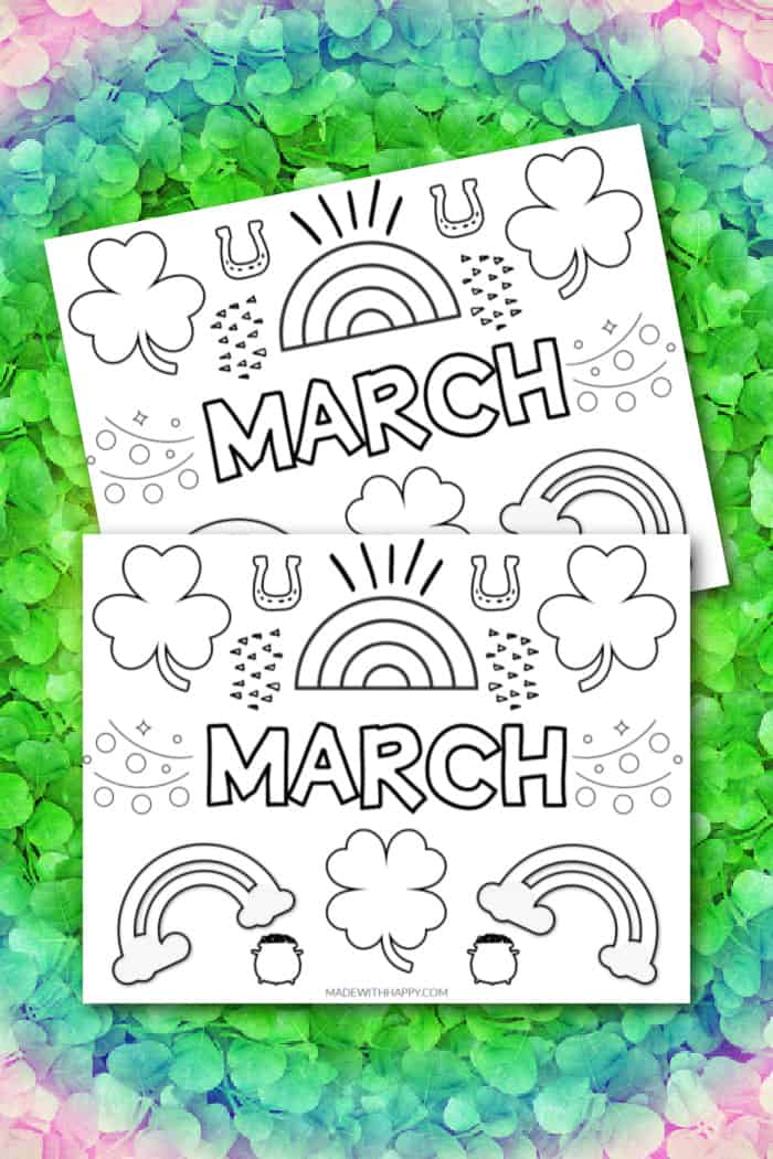 free printable coloring pages for march