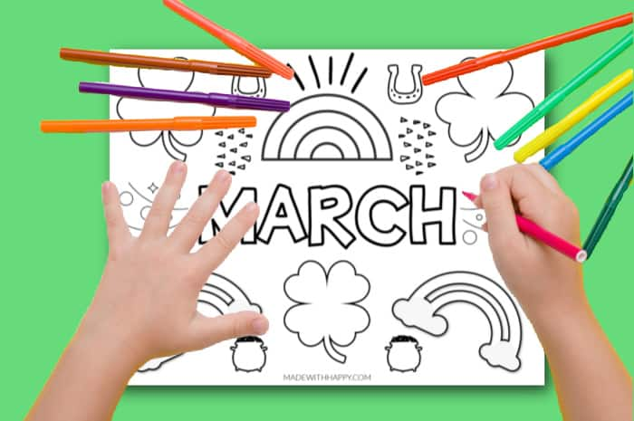 march coloring pages for preschoolers